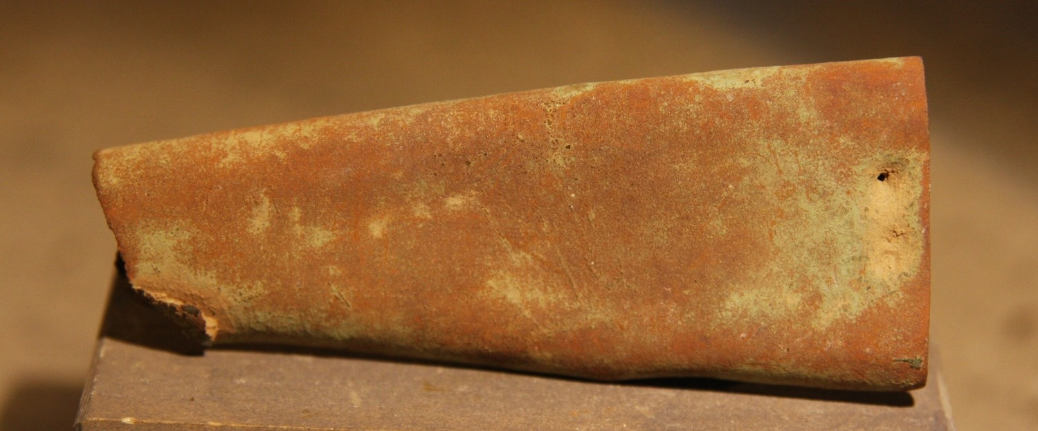 JUST ADDED ON 2/13 - THE BATTLE OF GETTYSBURG / AREA BEHIND THE ROUND TOPS - Bayonet Scabbard Tip