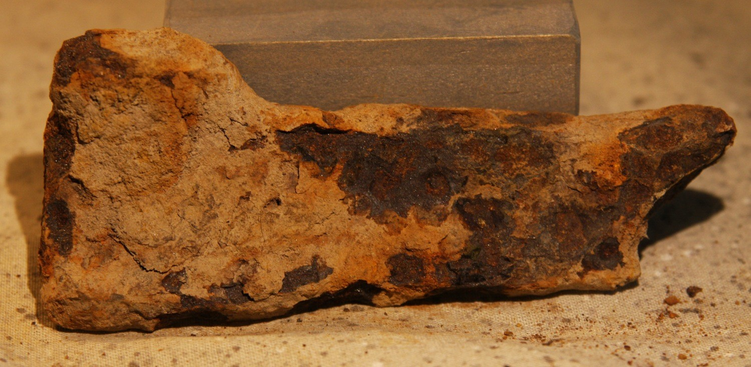 JUST ADDED ON 2/20 - THE BATTLE OF GETTYSBURG / EAST CAVALRY FIELD/ RUMMEL FARM - Large Artillery Shell Fragment recovered by Andy Keyser in the 1980s