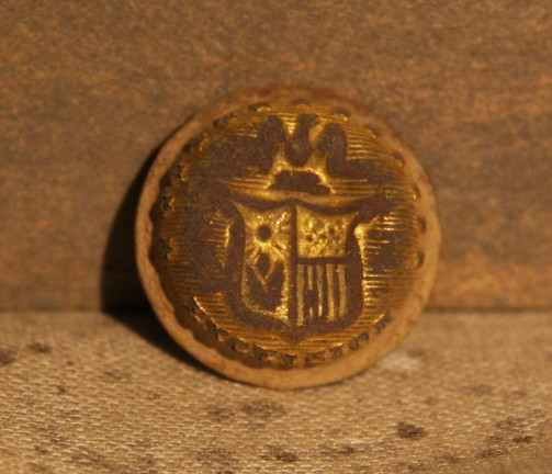 JUST ADDED ON 2/20 - THE BATTLE OF GETTYSBURG / AREA BEHIND THE ROUND TOPS - New York Cuff Button Face