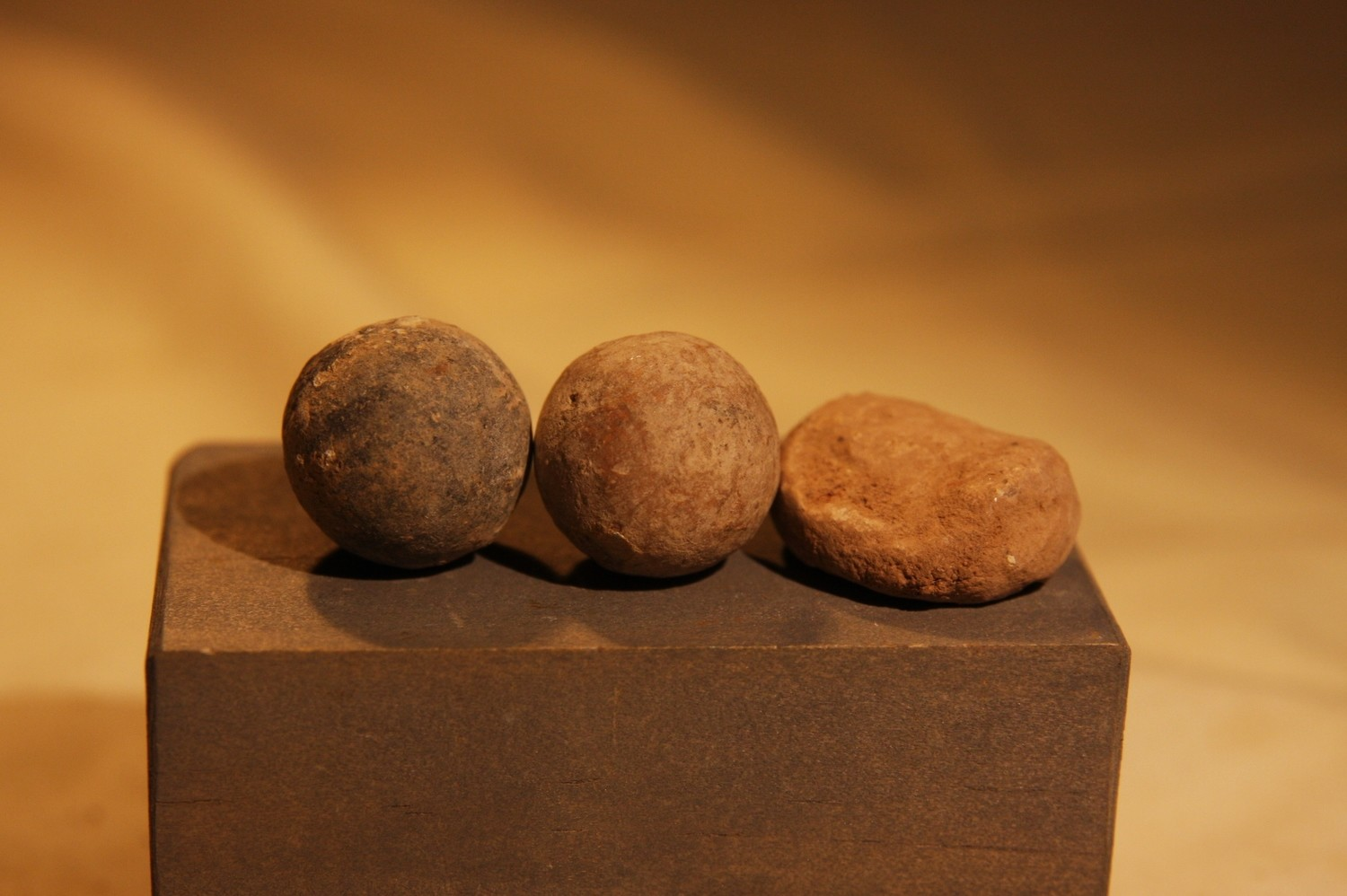 JUST ADDED ON 2/27 - 1861-1862 ZOUAVE WINTER CAMP NEAR POOLESVILLE, MD - Three .69 Caliber Musket Balls