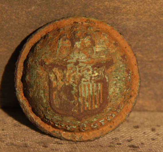 JUST ADDED ON 3/6 - THE BATTLE OF GETTYSBURG / AREA BEHIND THE ROUND TOPS - New York Coat Button