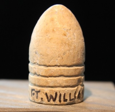 JUST ADDED ON 3/13 - FORT WILLIAMS / WASHINGTON DEFENSES / EDDIE WILDER COLLECTION - Relic Hunter Marked Bullet found in 1995