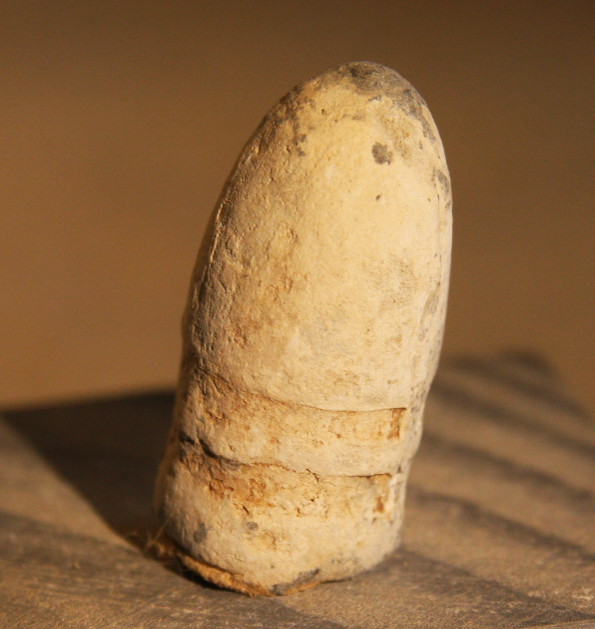 JUST ADDED ON 3/13 - THE BATTLE OF THE WILDERNESS - .54 Caliber Confederate Gardner Bullet - Found in 1959