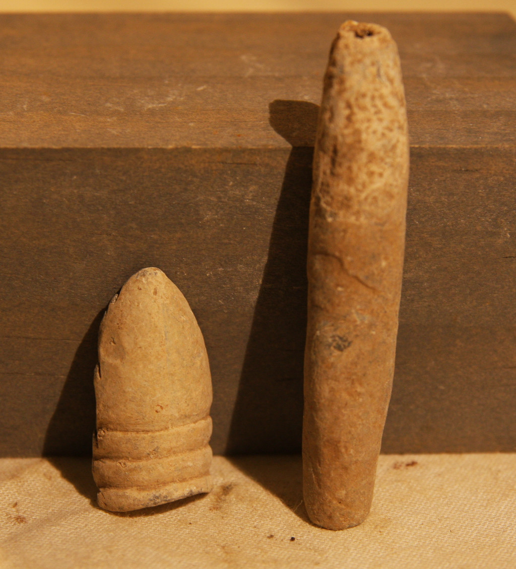 JUST ADDED ON 3/13 - THE BATTLE OF ANTIETAM / MILLER'S CORNFIELD - Two Carved / Soldier Manipulated Bullets - Found between 1975 and 1979