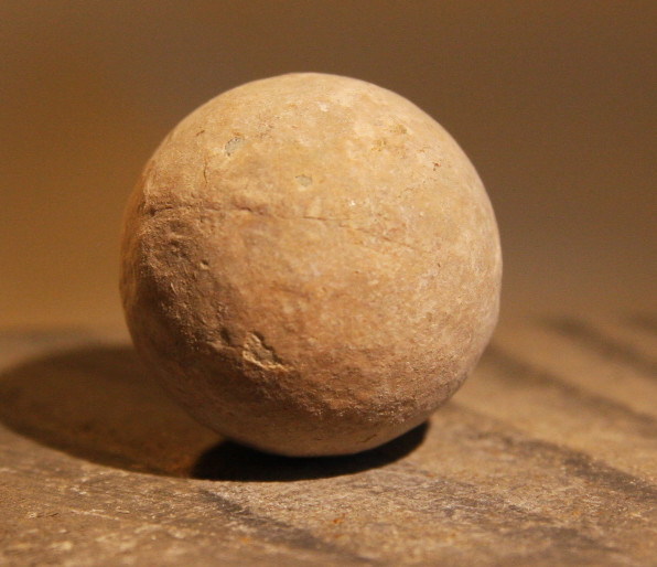 JUST ADDED ON 3/13 - THE BATTLE OF GETTYSBURG / EMMITSBURG ROAD JUST SOUTH OF THE POSITION HELD BY LAW'S BRIGADE - .69 Caliber Musket Ball