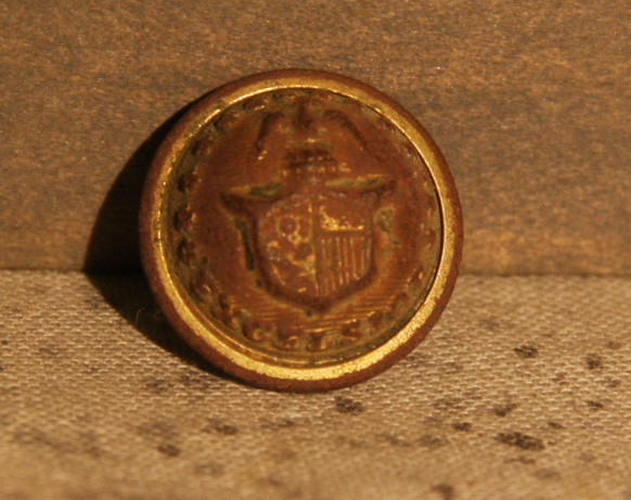 JUST ADDED ON 3/20 - THE BATTLE OF GETTYSBURG / AREA BEHIND THE ROUND TOPS - New York Cuff Button - 70% Gilt