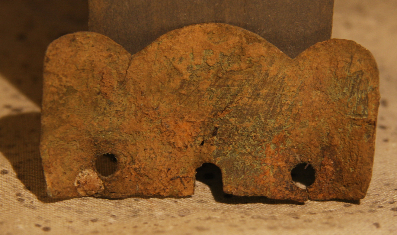 JUST ADDED ON 3/27 - THE BATTLE OF GETTYSBURG / AREA BEHIND THE ROUND TOPS - Piece from a Soldier's Shoulder Scale NG-RT46