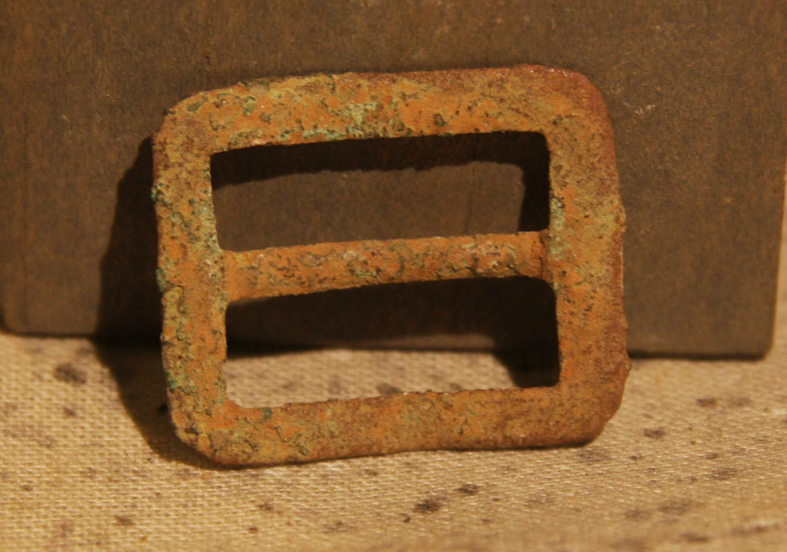 JUST ADDED ON 4/3 - THE BATTLE OF GETTYSBURG / AREA BEHIND THE ROUND TOPS - Soldier's Kepi Slider Buckle NG-RT38