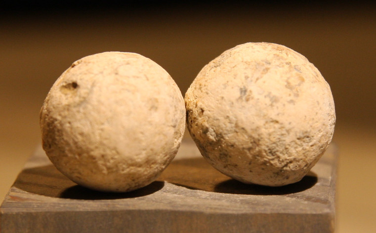 JUST ADDED ON 5/2 - ANTIETAM / MILLER'S CORNFIELD / THE WILSON FARM - Two Large Lead Case Shot from an Artillery Shell