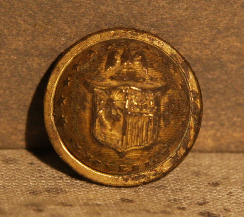JUST ADDED ON 5/2 - THE BATTLE OF GETTYSBURG / AREA BEHIND THE ROUND TOPS - Nice New York Cuff Button
