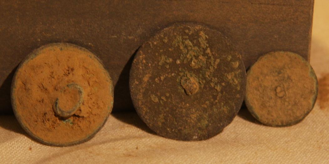 JUST ADDED ON 5/15 - ANTIETAM / NEAR THE MUMMA FARM & EAST WOODS - Three Flat or Coin Buttons