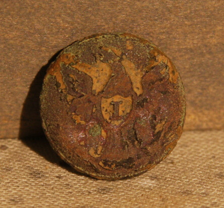 JUST ADDED ON 6/5 - THE BATTLE OF GETTYSBURG / AREA BEHIND THE ROUND TOPS - Eagle I Cuff Button - Face Only