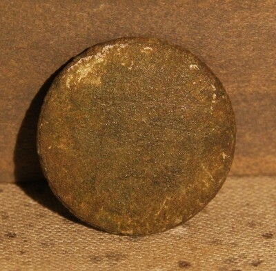 JUST ADDED ON 6/12 - THE BATTLE OF GETTYSBURG / AREA BEHIND THE ROUND TOPS - Flat / Coin Coat Button