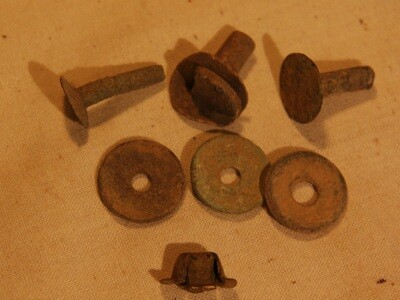 JUST ADDED ON 6/19 - THE BATTLE OF ANTIETAM / MILLER'S CORNFIELD - Seven Artifacts including a Percussion Cap - Found between 1975 and 1979