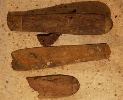 JUST ADDED ON 6/19 - GETTYSBURG - DEVIL'S DEN - ROSENSTEEL FAMILY - Remains of a Pocket Knife