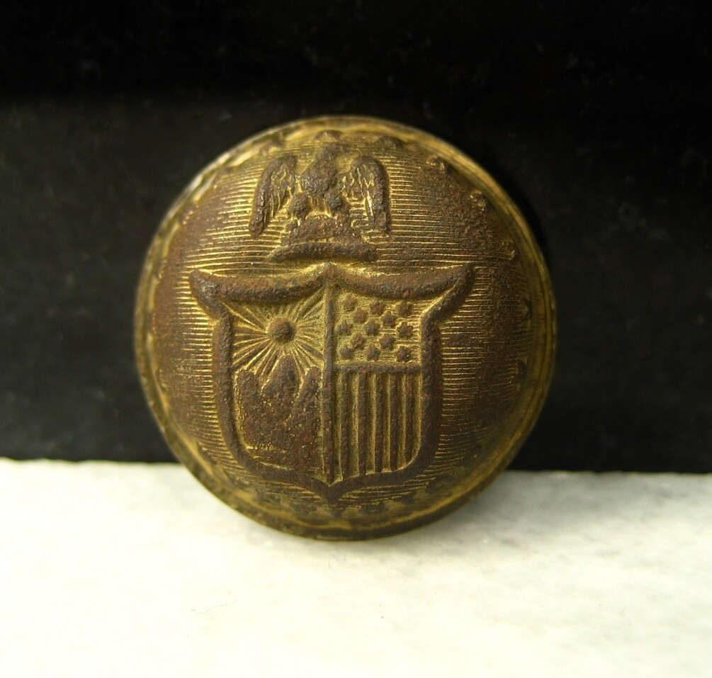 JUST ADDED ON 8/16 - THE BATTLE OF THE WILDERNESS / ORANGE PLANK ROAD - New York Coat Button