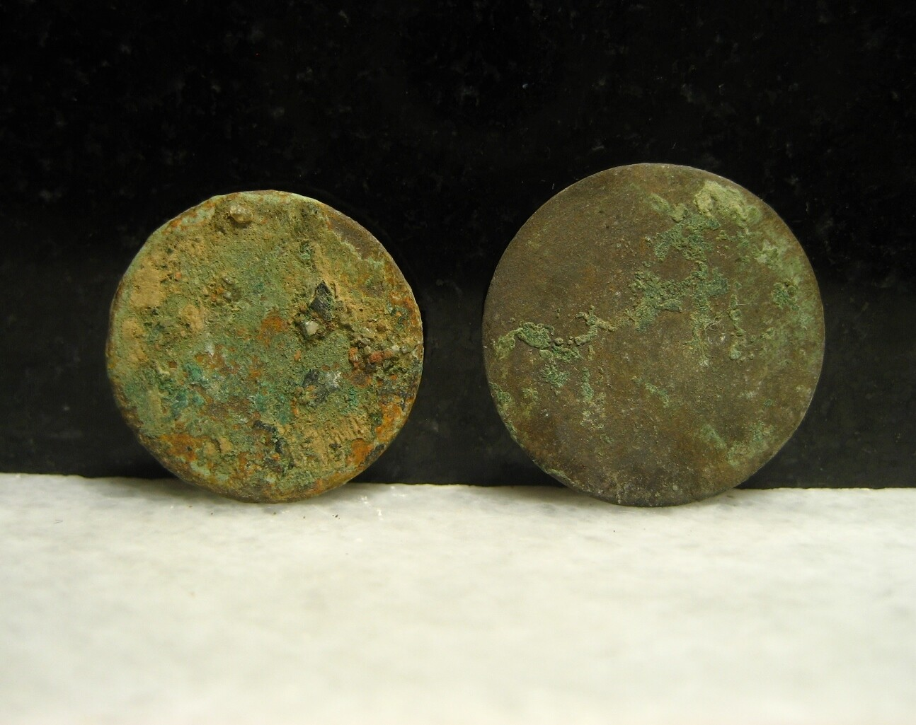 JUST ADDED ON 9/5 - DUNKER CHURCH / THE BATTLE OF ANTIETAM - Two Flat or Coin Coat Buttons
