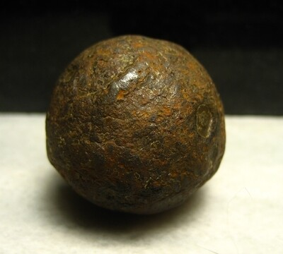 JUST ADDED ON 9/26 - THE BATTLE OF GETTYSBURG / G.A.R. POST #9 RELIC DISPLAY - Canister Ball