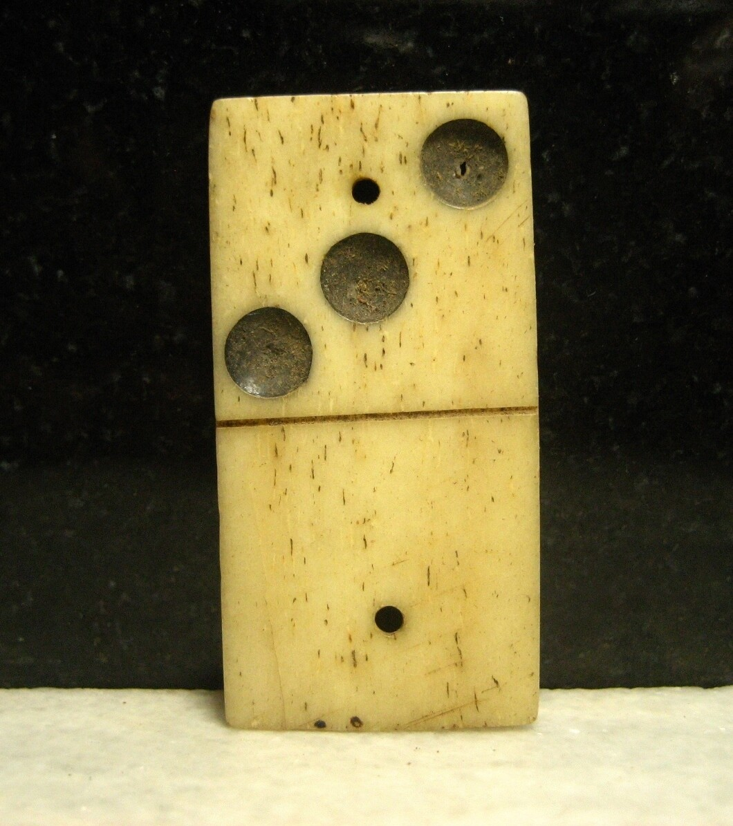 JUST ADDED ON 10/30 - CONFEDERATE PICKET POST ON THE PENINSULA / CHICKAHOMINY RIVER - A Soldier's Bone Domino