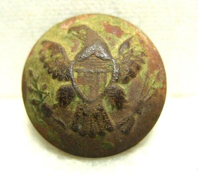 JUST ADDED ON 11/6 - THE BATTLE OF SHILOH / MORNING ATTACK / AREA OF OVERRUN CAMPS ON THE UNION LEFT - Eagle Coat  Button
