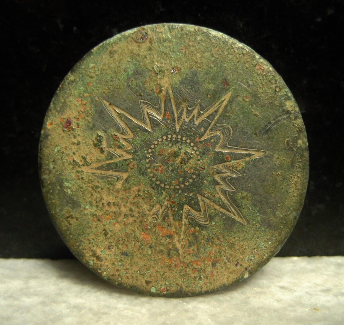 JUST ADDED ON 11/6 - THE BATTLE OF ANTIETAM - Very Large Flower Button - Star or Sun