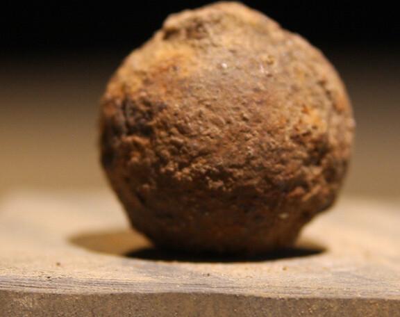 JUST ADDED ON 11/20 - GETTYSBURG - DEVIL'S DEN - ROSENSTEEL FAMILY - Iron Case Shot from an Artillery Shell