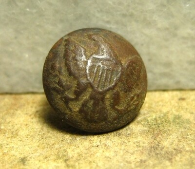 JUST ADDED ON 12/4 - THE BATTLE OF SHILOH / MORNING ATTACK / AREA OF OVERRUN CAMPS ON THE UNION LEFT - Nice Eagle Cuff Button