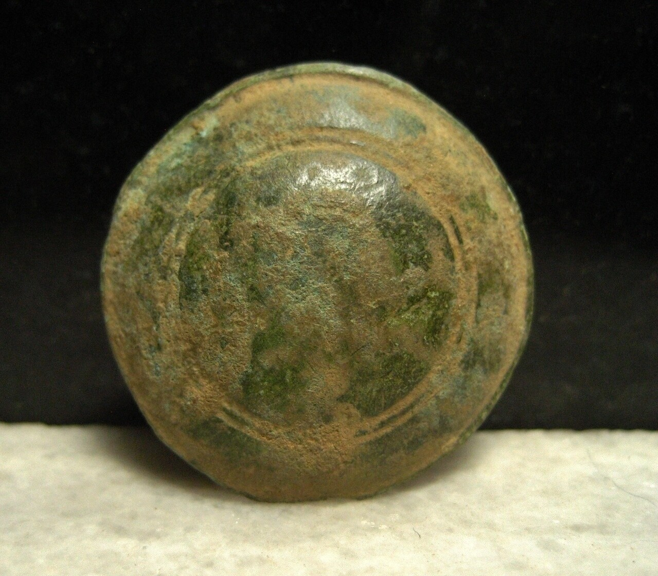 JUST ADDED ON 1/8 - THE BATTLE OF ANTIETAM / SMOKETOWN ROAD NEAR THE EAST WOODS - Brass Artifact - Unknown - Small Rosette or Leather Decoration? Button? found in the Early 1970s