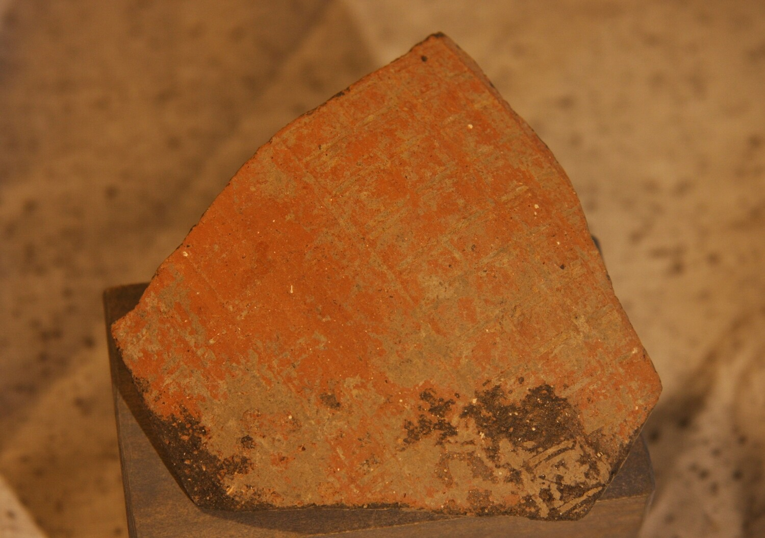 JUST ADDED ON 1/15 - ANCIENT ROMAN EMPIRE / ARCHAEOLOGICAL DIG NEAR TOWCESTER, ENGLAND - A Fragment of Roman Pottery with Design - from an Archaeologist's Collection