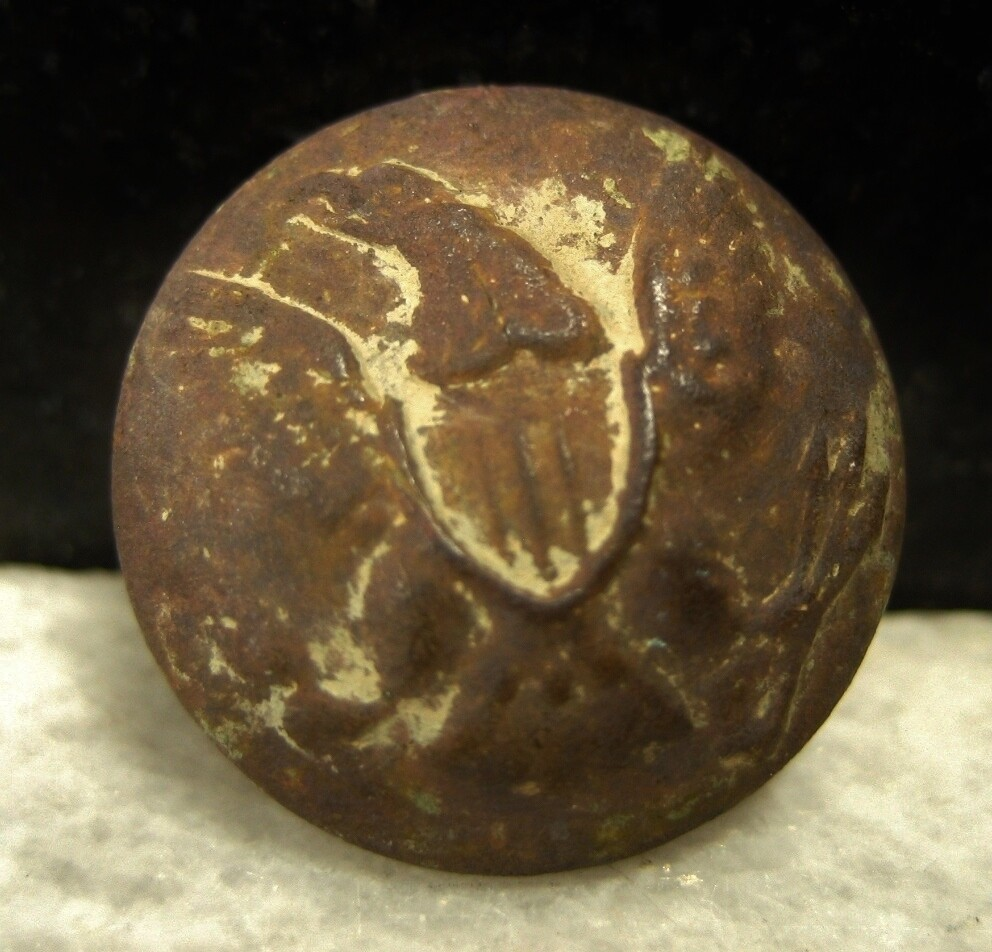 JUST ADDED ON 2/12 - THE BATTLE OF SHILOH / MORNING ATTACK / AREA OF OVERRUN CAMPS ON THE UNION LEFT - Eagle Coat Button