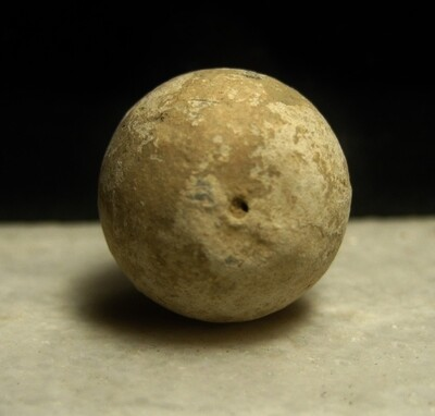 JUST ADDED ON 2/19 - THE BATTLE OF MONOCACY - .69 Caliber Musket Ball or Large Case Shot with Small Hole - found on April 7, 1967