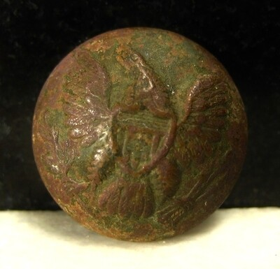 JUST ADDED ON 2/19 - THE BATTLE OF SHILOH / MORNING ATTACK / AREA OF OVERRUN CAMPS ON THE UNION LEFT - Eagle Coat Button