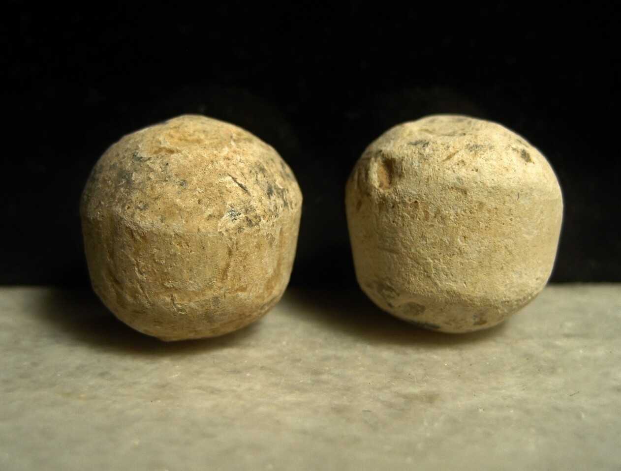 JUST ADDED ON 2/26 - THE BATTLE OF ANTIETAM / MILLER'S CORNFIELD / THE WILSON FARM - Two .69 Caliber Musket Balls from Buck and Ball Rounds