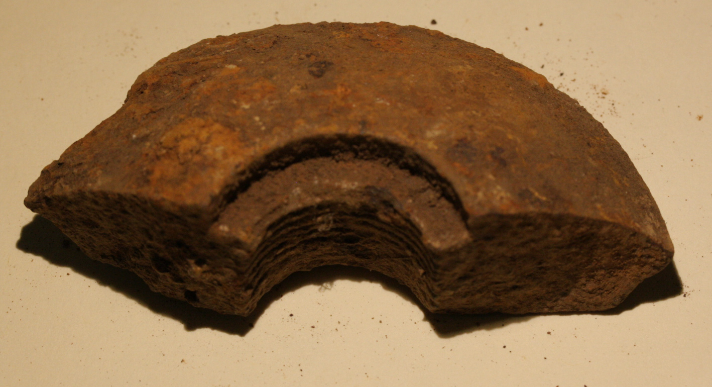JUST ADDED ON 9/23 - GETTYSBURG - CULP'S HILL - ROSENSTEEL FAMILY - Nice Fragment from a Confederate Spherical Shell GR-IRCHH11