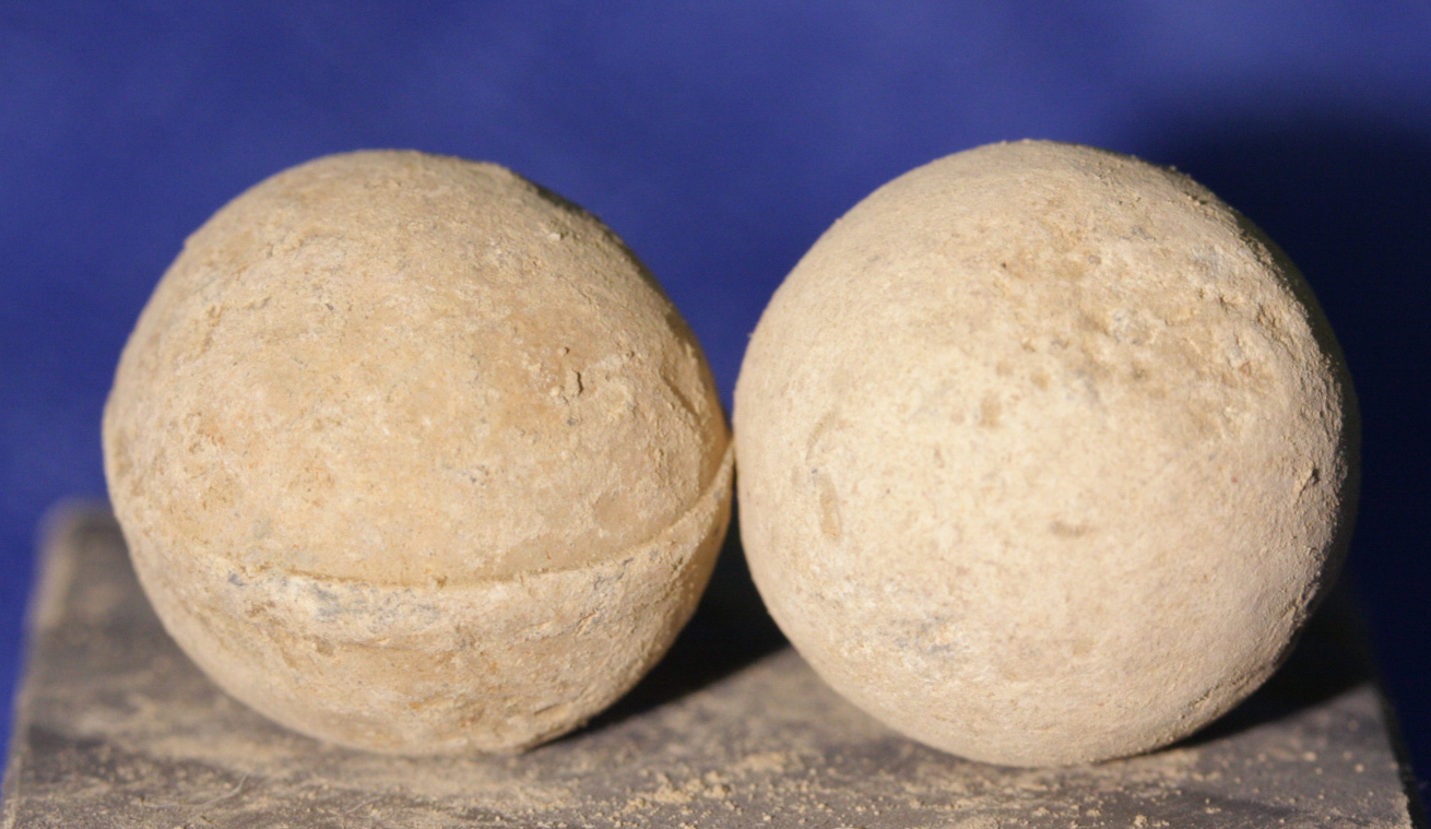 JUST ADDED ON 1/16 - THE BATTLE OF CEDAR CREEK - Two .69 Caliber Round Balls - 1 with mold line WB-CDC06