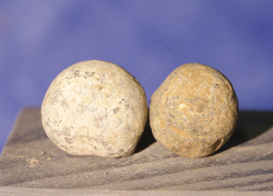 JUST ADDED ON 1/16 - Gettysburg - THE VALLEY OF DEATH - ROSENSTEEL COLLECTION - Two Pistol Balls - found by Ellwood Cullison on July 25, 1941 GR-VDRS03