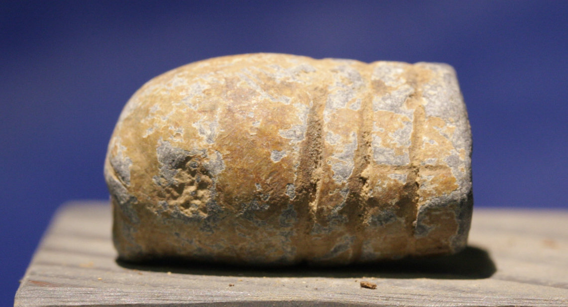 JUST ADDED ON 4/13 - THE BATTLE OF ANTIETAM - Fired Bullet  - with copy of collection label