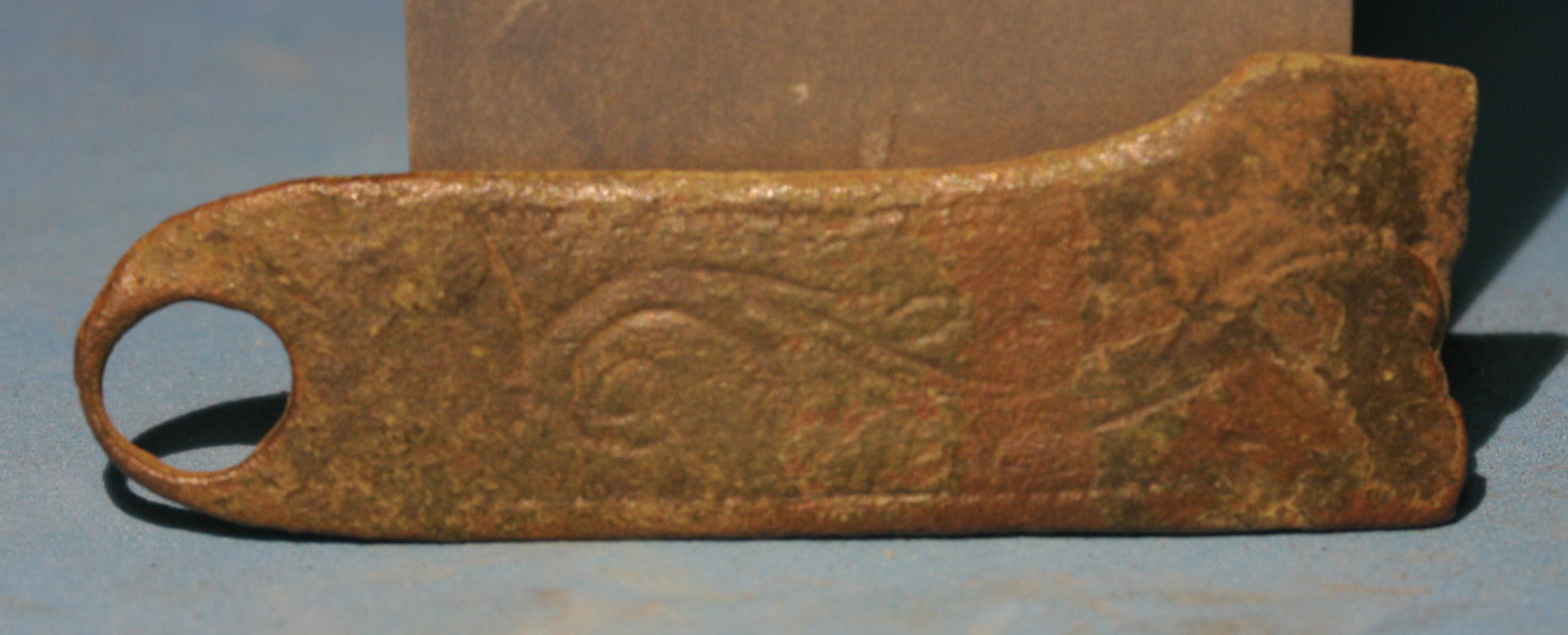 JUST ADDED ON 5/25 - WILLIAMSBURG - Etched Brass Side Plate from an Early Musket / Rifle or Pistol WB-DB16