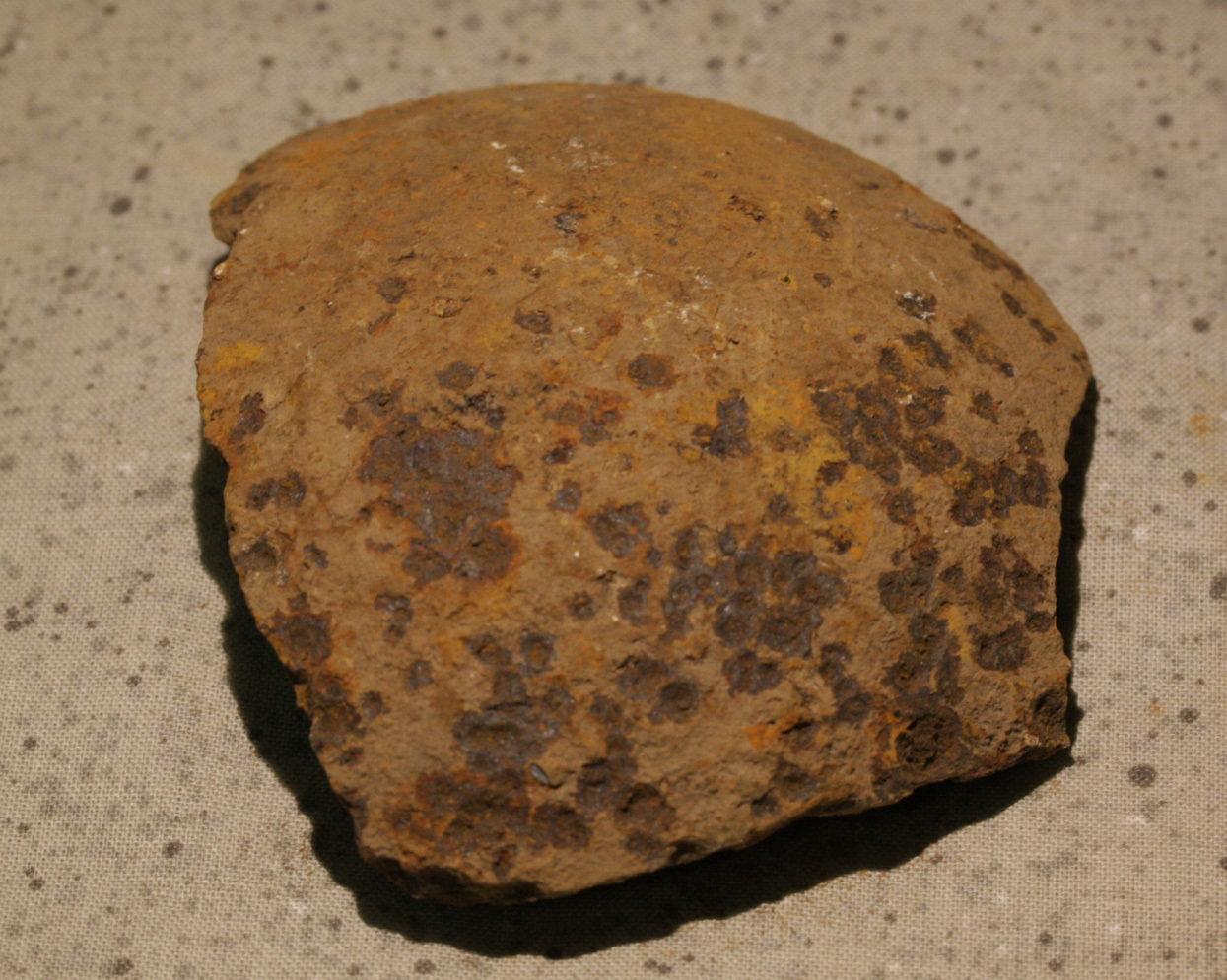 JUST ADDED ON 9/21 - GETTYSBURG - DEVIL'S DEN - ROSENSTEEL FAMILY - Nice Sized Fragment of a 12 Pound Spherical artillery shell GR-IRDDH77