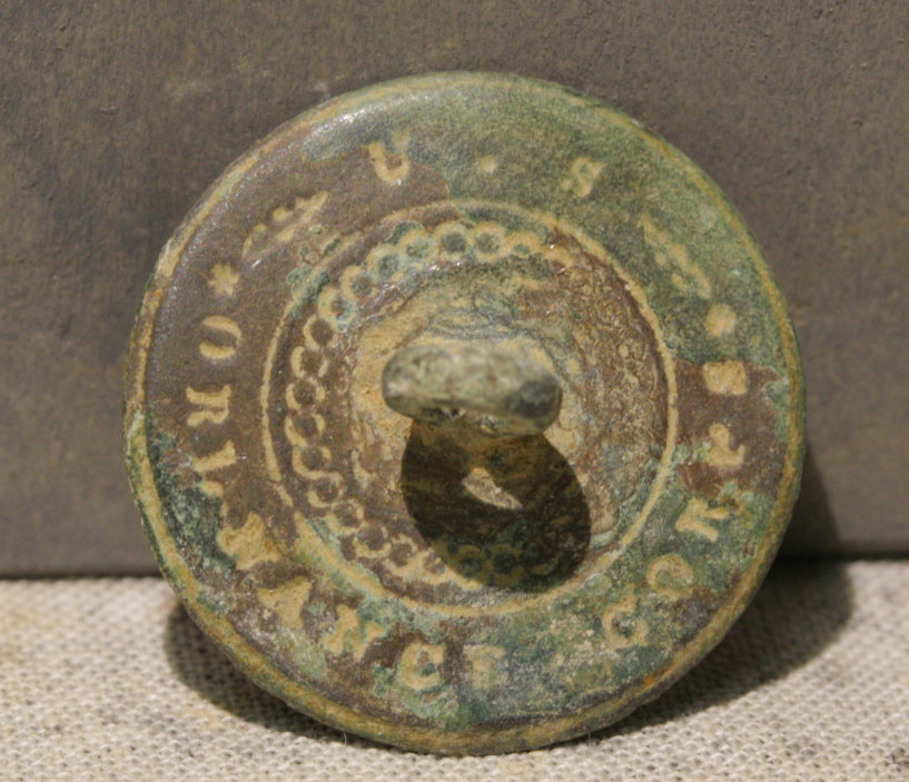 JUST ADDED ON 11/1 - THE BATTLE OF PIEDMONT - U.S. Ordnance Corps Marked Button Back WB-PDM19