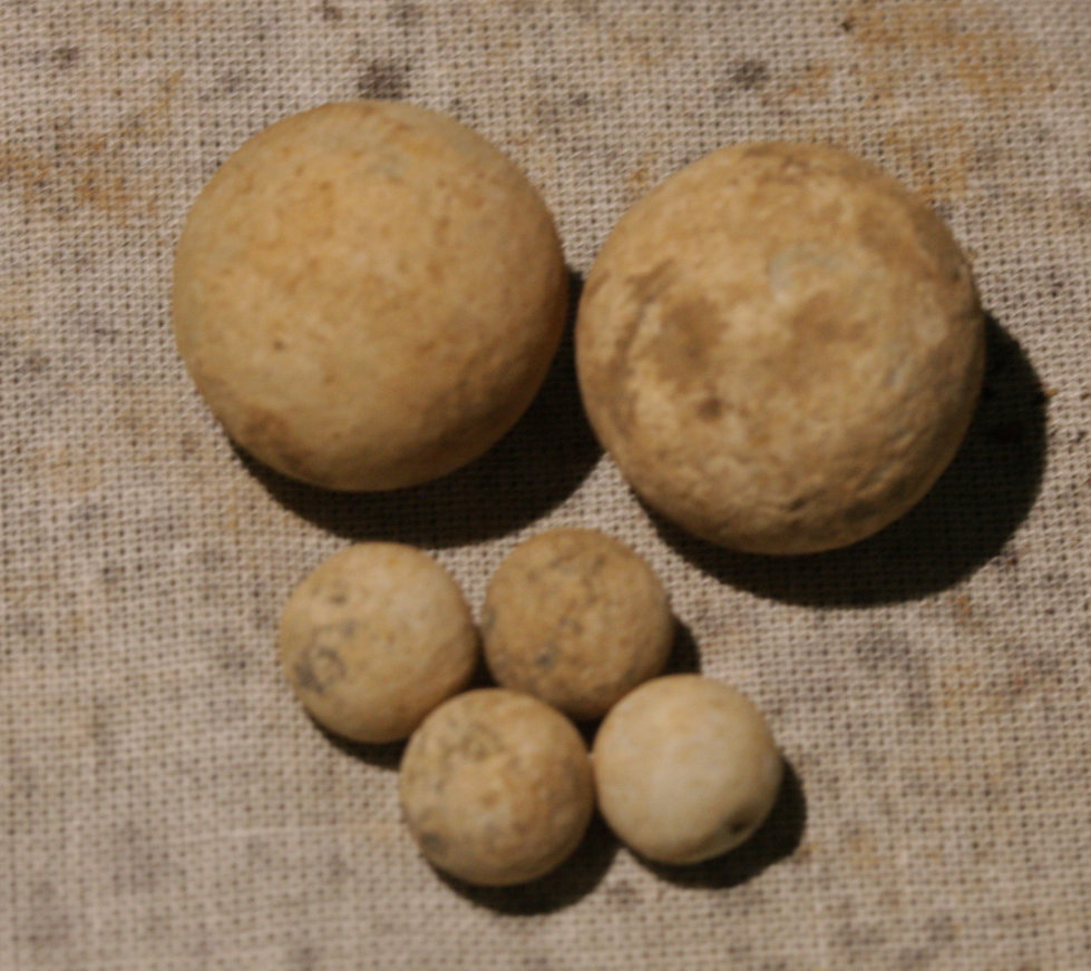 JUST ADDED ON 11/15 - CULPEPER, VIRGINIA - Two .69 Caliber Round Balls and Four Buck Shot WB-CLP16