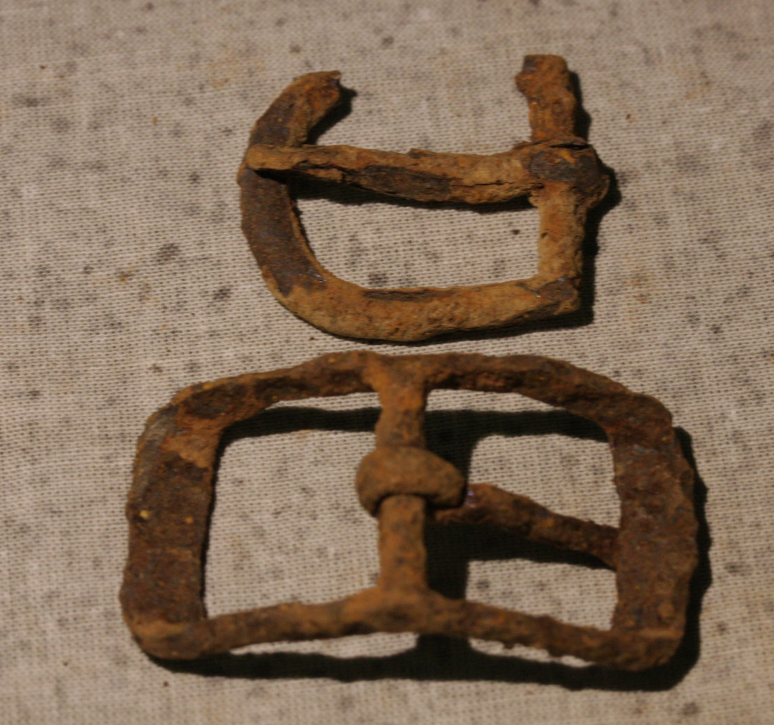 JUST ADDED ON 4/18 - CULPEPER, VIRGINIA - Two Iron Buckles WB-CLP11