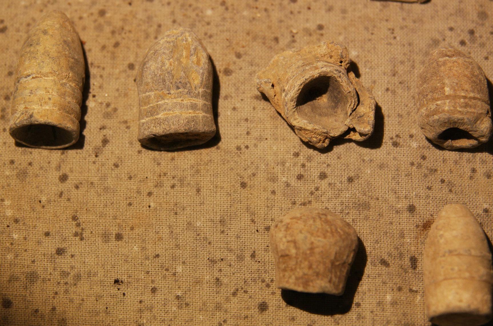 JUST ADDED ON 6/13 - HENRY DEEKS COLLECTION - 20 Bullets Including Carved, Gardner, Swage, Mushroomed, .69, Pulled