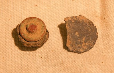 JUST ADDED ON 8/1 - THE BATTLE OF ANTIETAM / DUNKER CHURCH - Brass Stud with Leather & Coin Button