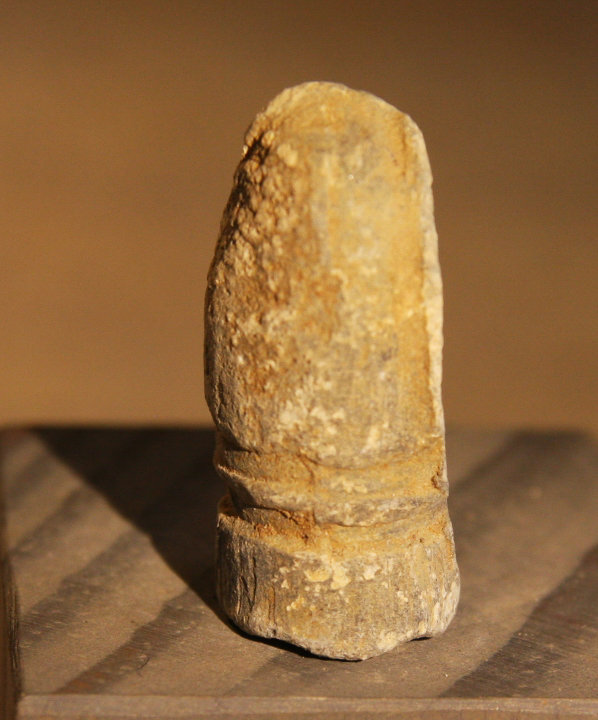 JUST ADDED ON 1/9 - THE BATTLE OF THE WILDERNESS - .54 Caliber Confederate Gardner Bullet - Carved? - Found in 1959