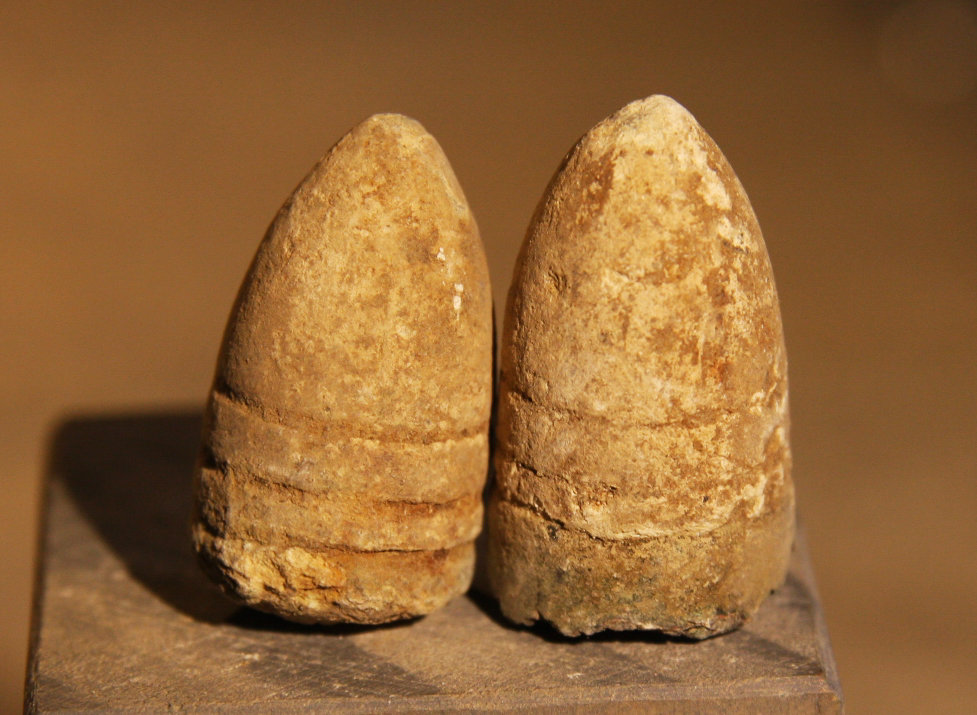 JUST ADDED ON 1/9 - THE BATTLE OF THE WILDERNESS - Two Spencer Bullets - One with Casing Remains- Found in 1959