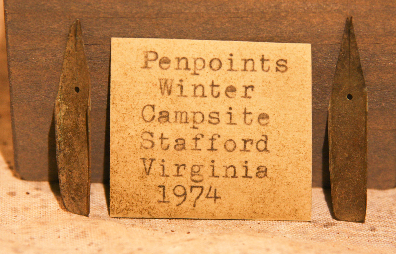 JUST ADDED ON 1/9 - STAFFORD, VIRGINIA UNION WINTER CAMP - Two Civil War Pen Tips with Original Label RG-GEN10