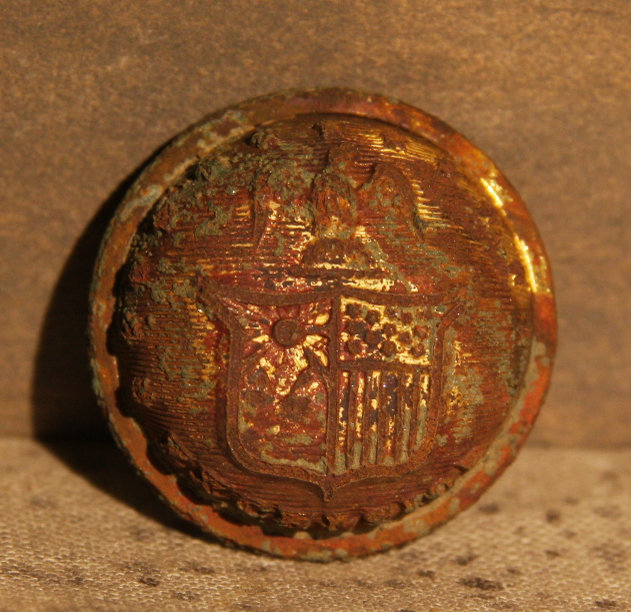 JUST ADDED ON 1/9 - THE BATTLE OF GETTYSBURG / AREA BEHIND THE ROUND TOPS - New York Coat Button