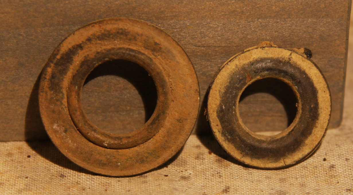 JUST ADDED ON 1/16 - GETTYSBURG - DEVIL'S DEN - ROSENSTEEL FAMILY - Two Brass Grommets - One with Material Attached