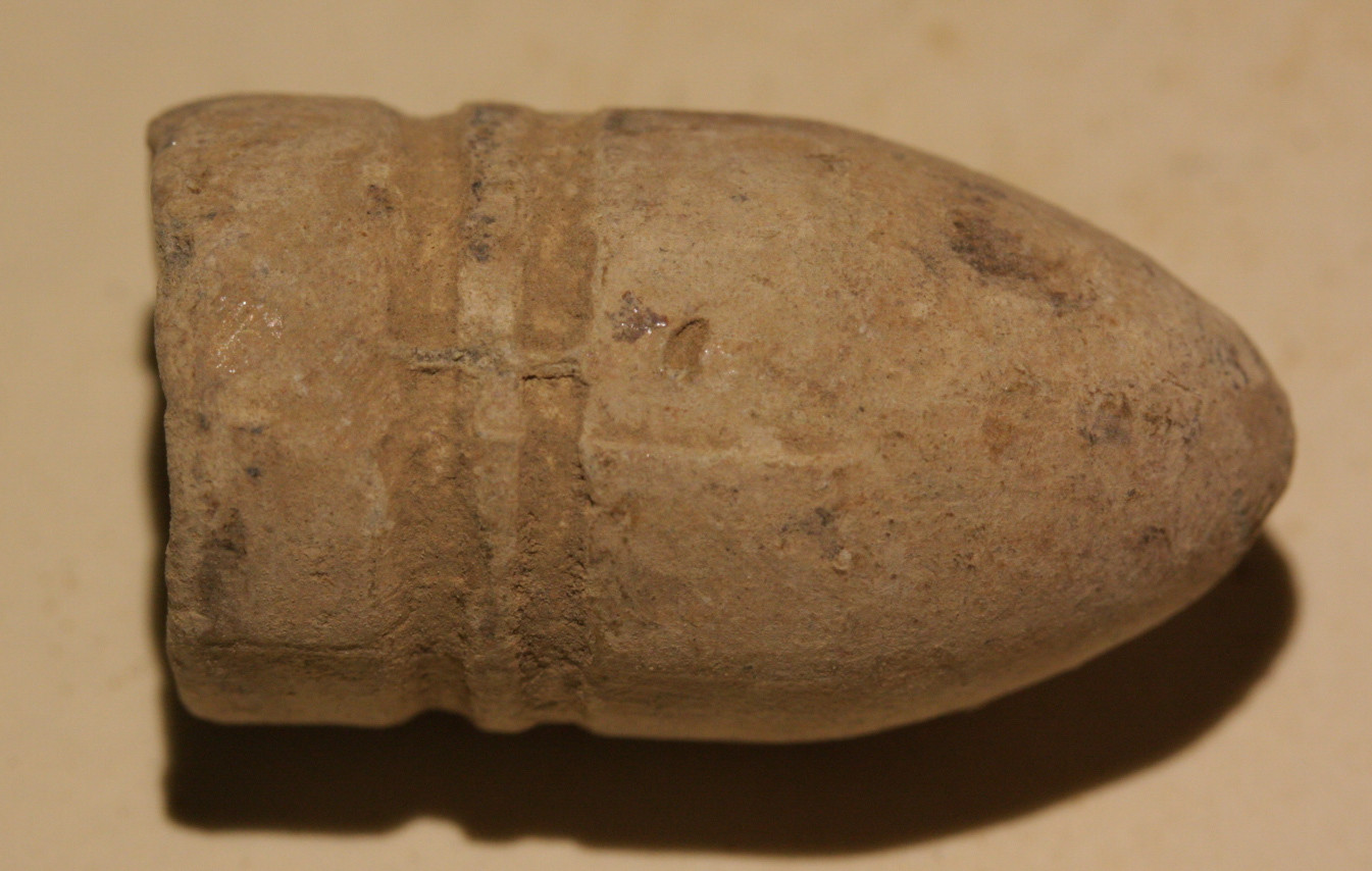 JUST ADDED ON 10/26 - RUDE'S HILL / 1862 CS SITE / 1864 BATTLE - Confederate Gardner Bullet